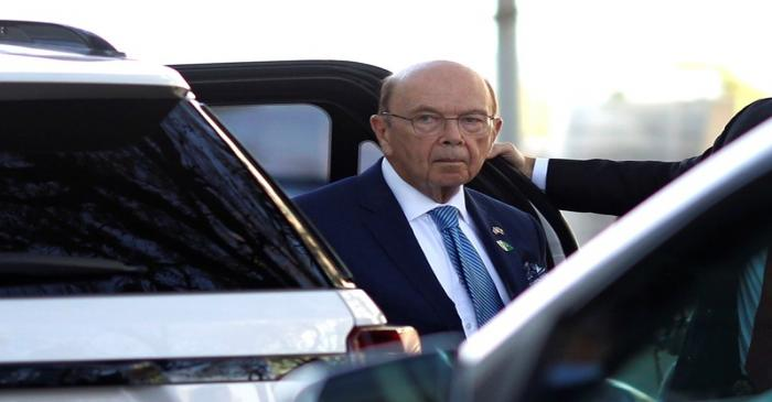 U.S. Commerce Secretary Wilbur Ross arrives to a meeting with Brazil's Economy Minister Paulo