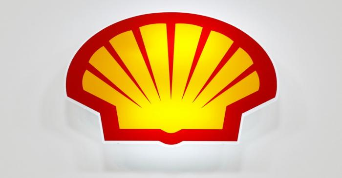 FILE PHOTO: The Shell logo is seen at the 20th Middle East Oil & Gas Show and Conference (MOES