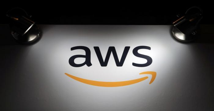 The logo of Amazon Web Services (AWS) is seen during the 4th annual America Digital Latin