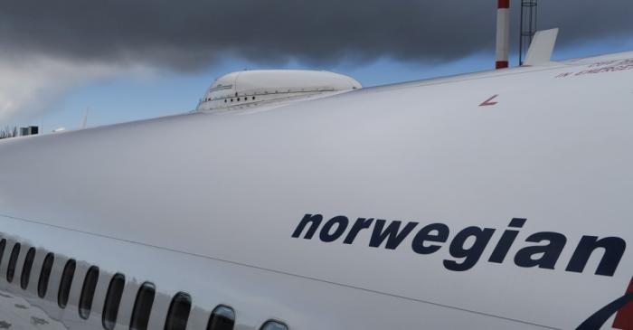 FILE PHOTO: Satellite antenna on the roof of a Norwegian Air Boeing 737-800 at Berlin