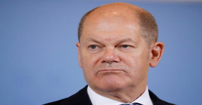German finance minister Scholz holds news conference on tax revenues, in Berlin