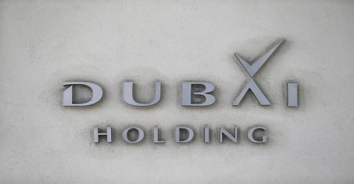 FILE PHOTO: The corporate logo of Dubai Holding is seen in Dubai