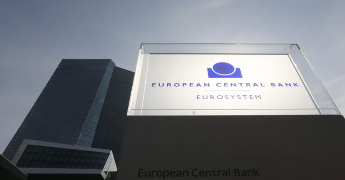 General view of exterior of ECB building on inaugural of it's new headquarters in Frankfurt