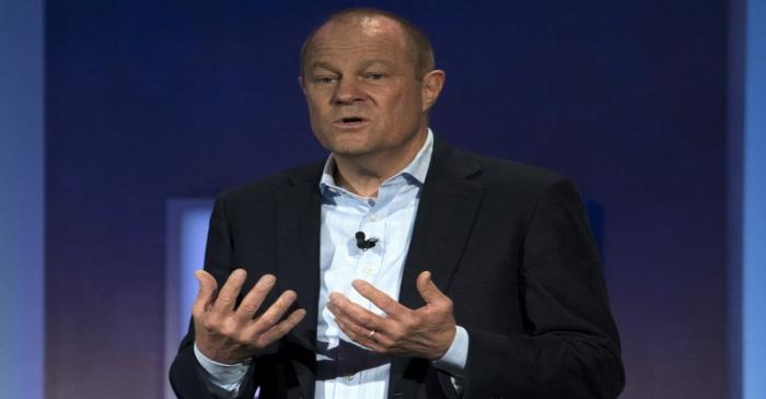 Peck, CEO of Gap, speaks during the Clinton Global Initiative's annual meeting in New York