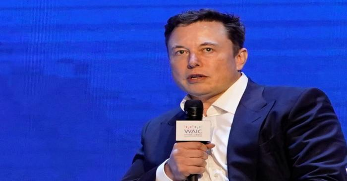 FILE PHOTO: Tesla Inc CEO Elon Musk attends the World Artificial Intelligence Conference (WAIC)