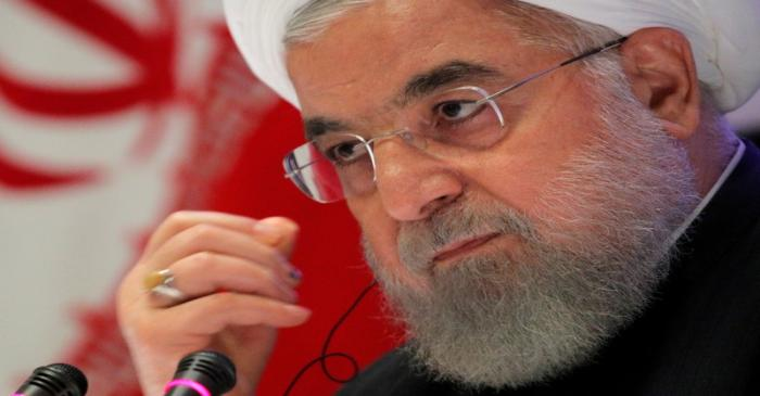 FILE PHOTO: Iranian President Hassan Rouhani speaks at a news conference on the sidelines of