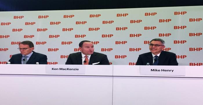 BHP's top leadership announce the appointment of Mike Henry as its new Chief Executive from