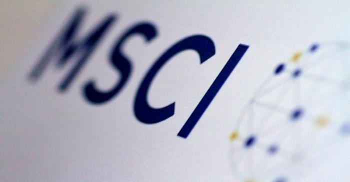 Illustration photo of the MSCI logo