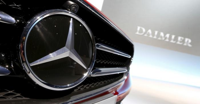 FILE PHOTO: File photo of Mercedes-Benz logo pictured before company's annual news conference