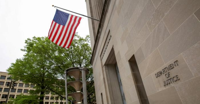 A general view of the Department of Justice building is seen ahead of the release of the