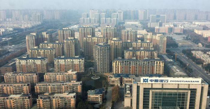 An overview shows apartment buildings in Xuchang