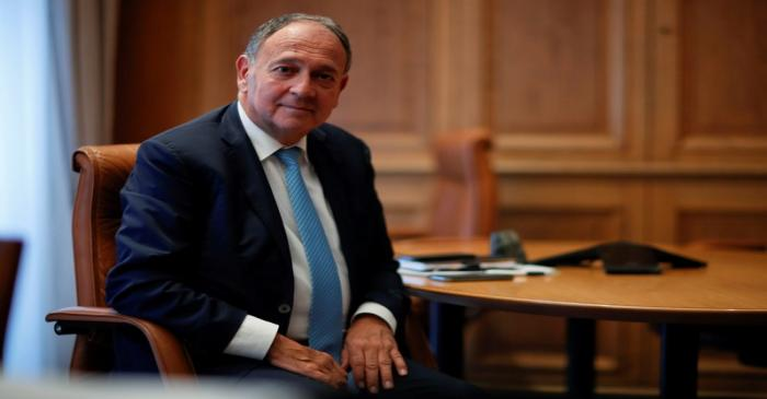 FILE PHOTO: Paul Hermelin, CEO of Capgemini, during an interview with Reuters in Paris