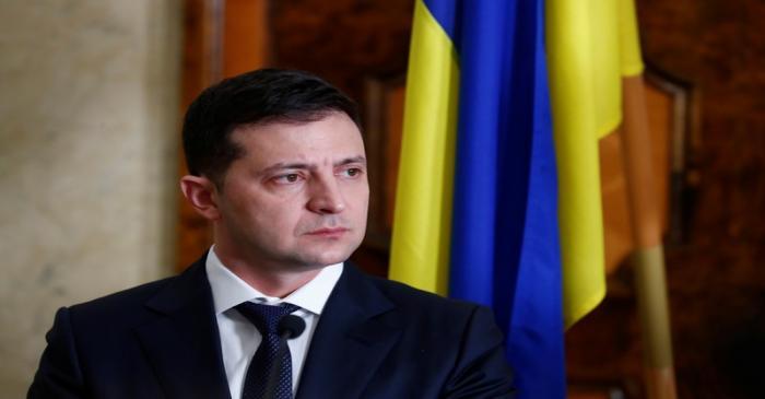 Ukraine's President Zelenskiy attends a news conference in Tallinn