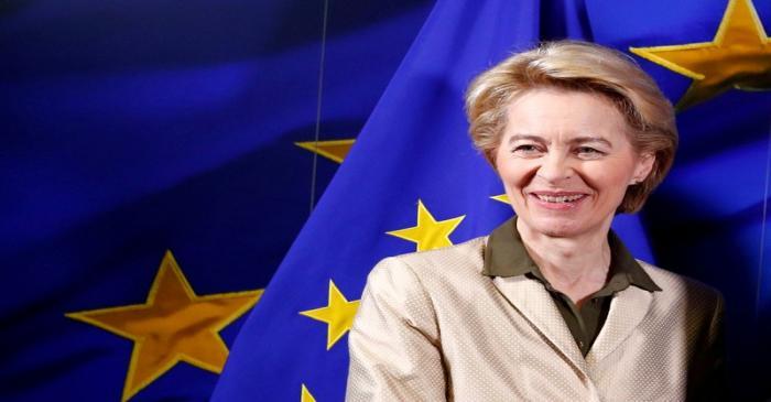 FILE PHOTO: EU Commission President-designate Von der Leyen is pictured in Brussels
