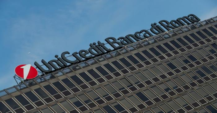 The UniCredit-Banca di Roma bank headquarters is seen in Rome