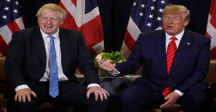 FILE PHOTO: U.S. President Trump meets with British Prime Minister Johnson on sidelines of U.N.