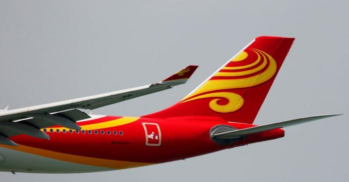 A Hong Kong Airlines Airbus A330-300 descends before landing at Hong Kong Airport in Hong Kong