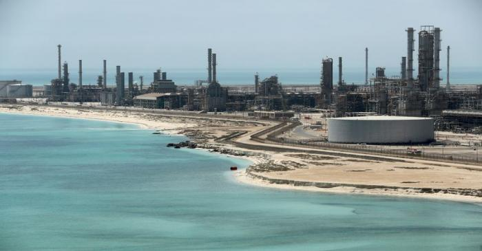 FILE PHOTO: General view of Saudi Aramco's Ras Tanura oil refinery and oil terminal in Saudi