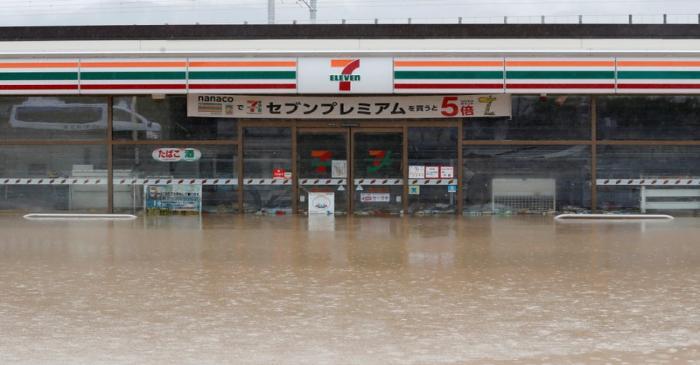 Aftermath of Typhoon Hagibis in Nagano Prefecture