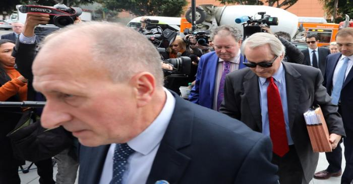 British cave diver Vernon Unsworth arrives at court  in Los Angeles