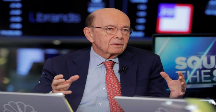 U.S. Secretary of Commerce, Wilbur Ross, speaks to CNBC on the floor of the New York Stock