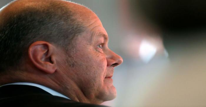 FILE PHOTO: German Finance Minister Olaf Scholz, who lost his bid for the leadership of the