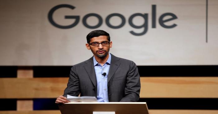 FILE PHOTO: Google CEO Pichai speaks at El Centro College in Dallas