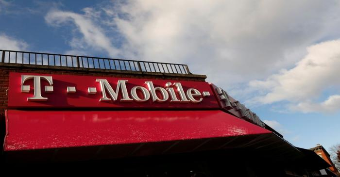FILE PHOTO: A T-Mobile store is pictured in the Brooklyn borough of in New York