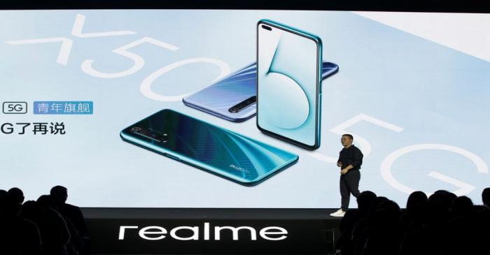 Realme CMO Xu attends product launch event of Realme X50 5G in Beijing