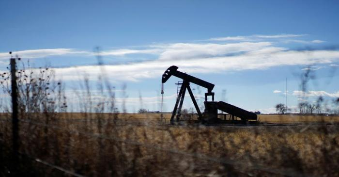 FILE PHOTO: An oil well is seen near Denver