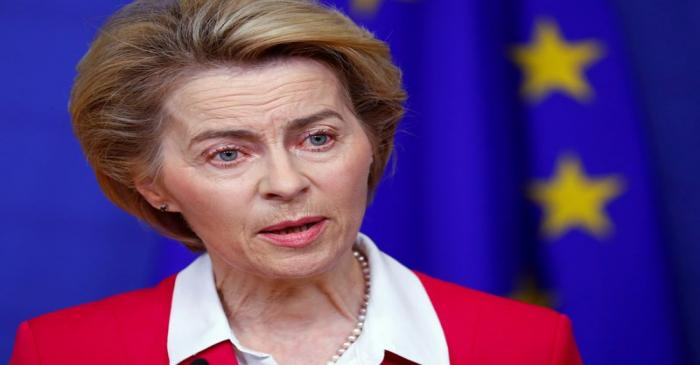 EU Commission President von der Leyen holds a news conference in Brussels