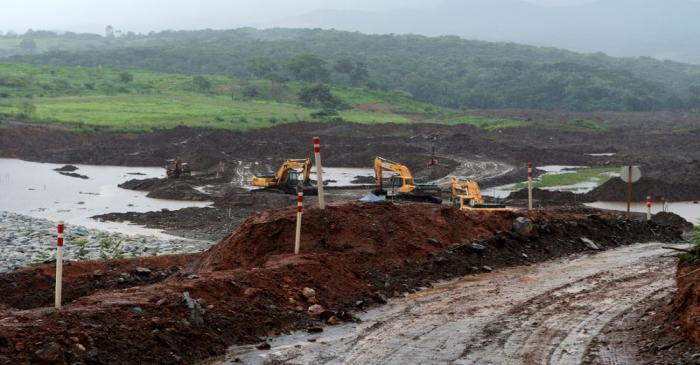 FILE PHOTO: A view of the Brazilian mining company Vale's tailings dam in Brumadinho