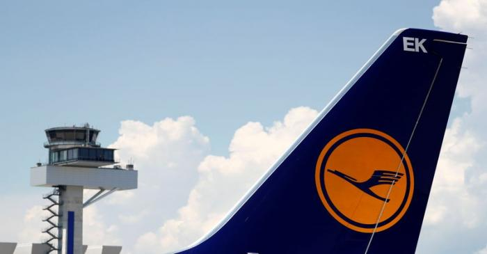 Planes of German air carrier Lufthansa AG are seen on the tarmac at Fraport airport in