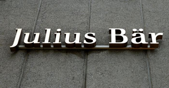 Logo of Swiss private bank Julius Baer is seen in Zurich