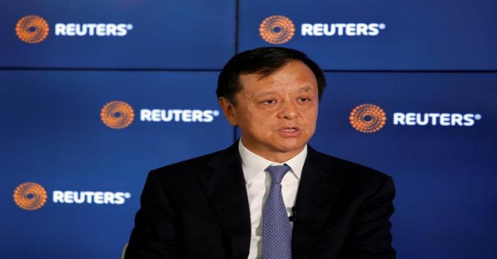 Hong Kong Exchanges and Clearing Limited Chief Executive Charles Li attends an interview in