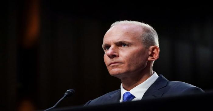 FILE PHOTO: Boeing CEO Muilenburg testifies before Senate Commerce, Science and Transportation