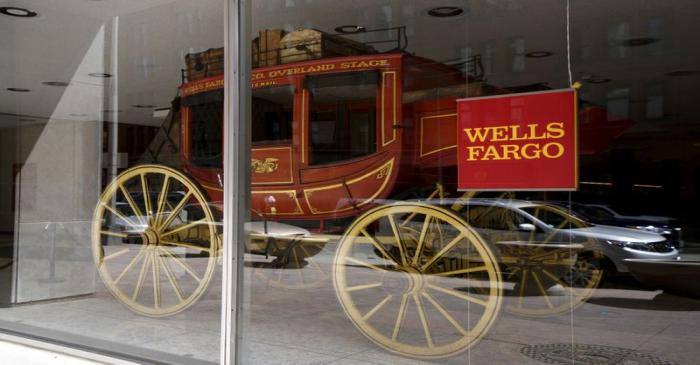 FILE PHOTO: An 1860's era stagecoach is displayed at the Wells Fargo & Co. bank in downtown