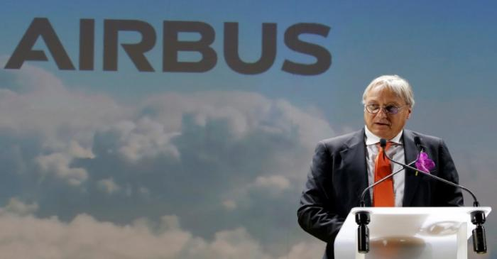 FILE PHOTO:  Christian Scherer, Airbus Chief Commercial Officer, speaks during a news