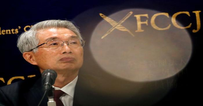 FILE PHOTO: Junichiro Hironaka, chief lawyer of the ousted Nissan Motor Co Ltd chairman Carlos