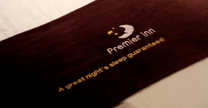 FILE PHOTO: A bed is seen at a Premier Inn hotel in Liverpool