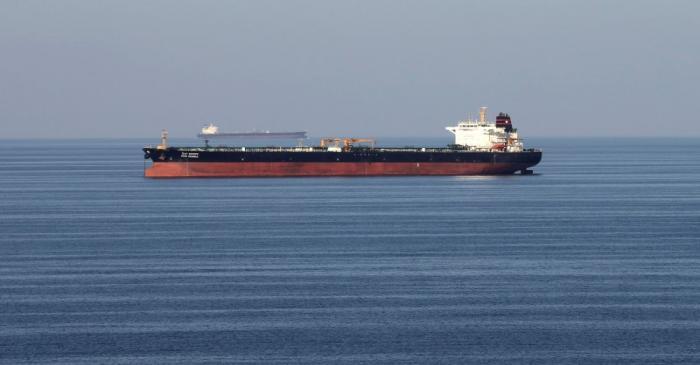 FILE PHOTO: Oil tankers pass through the Strait of Hormuz