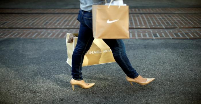 FILE PHOTO: Woman shops at The Grove mall in Los Angeles