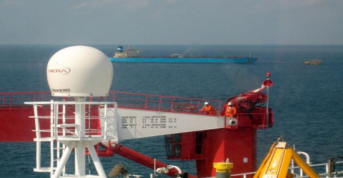 FILE PHOTO: General view taken from French oil group Total's Floating Production, Storage and