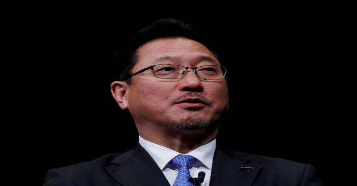 FILE PHOTO: Nissan Motor executive officer and vice-COO Jun Seki  speaks during a news
