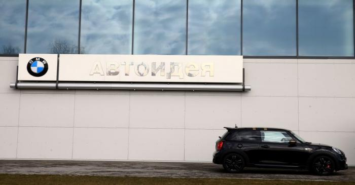 FILE PHOTO: A Mini car is seen at a BMW dealership in Minsk