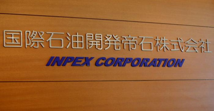 Inpex Corp's logo is pictured at its headquarters in Tokyo