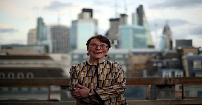 FILE PHOTO: Catherine McGuinness of the City of London Corporation, poses for a photograph in