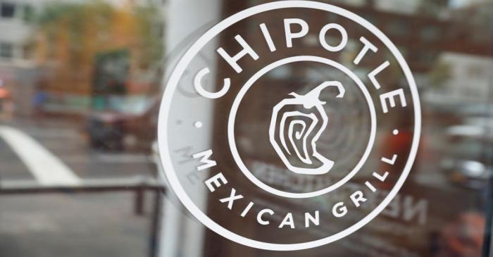 The logo of Chipotle Mexican Grill is seen at the Chipotle Next Kitchen in Manhattan