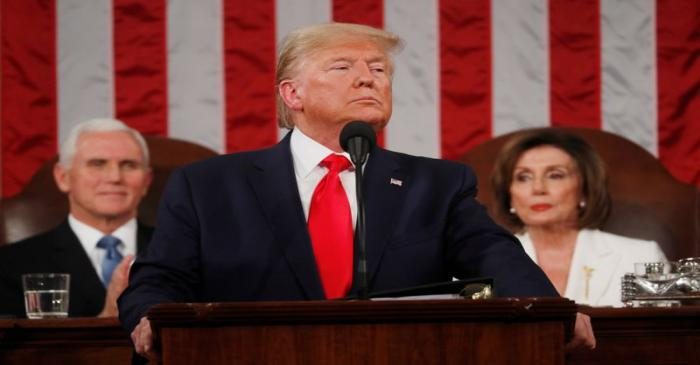 U.S. President Trump delivers State of the Union address at the U.S. Capitol in Washington