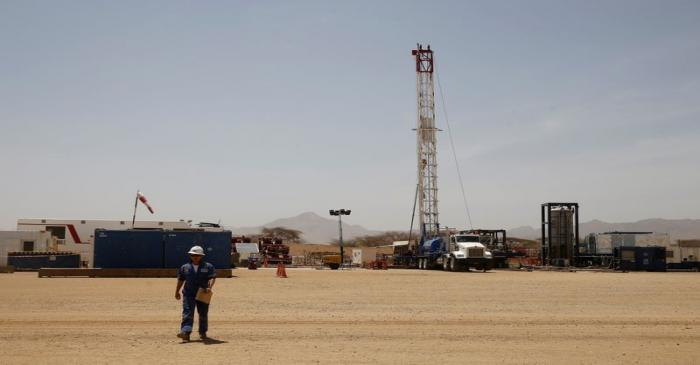 FILE PHOTO: A Tullow Oil exploration drilling site in Lokichar